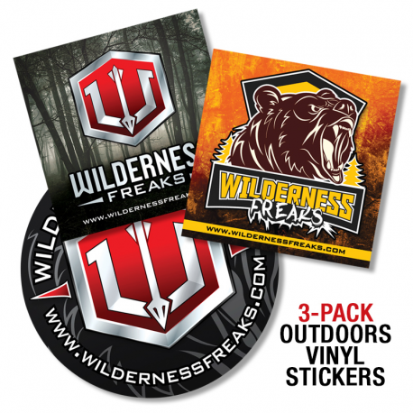 Outdoor vinyl sticker 3pack
